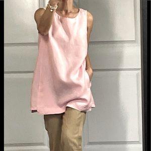 J Jill Pink 100% Linen Tunic Top size S